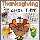 Thanksgiving Math and Literacy Centers for Preschool and PreK