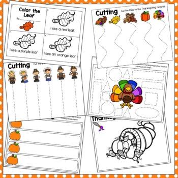 Thanksgiving Preschool Packet