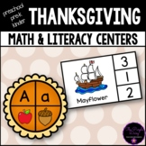 Thanksgiving Math and Literacy Centers For Preschool Pre-K and Kindergarten