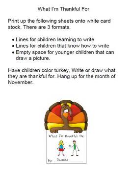 Thanksgiving Preschool Worksheets