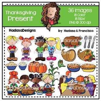 Thanksgiving Present Clip Art Set