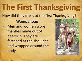 Thanksgiving Presentation: Then and Now
