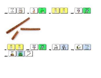 Thanksgiving Pretzel Turkey Snack directions for AAC Users