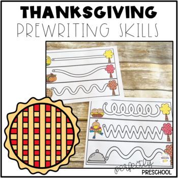 Thanksgiving Prewriting Skills {Dollar Deal}