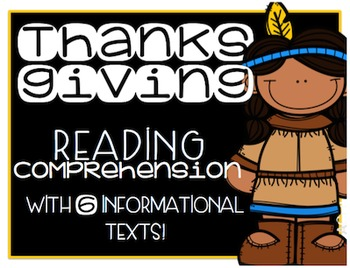 Thanksgiving Primary Informational (Non-Fiction) Text Pack {#TeacherMom}