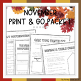 Thanksgiving Activities Packet