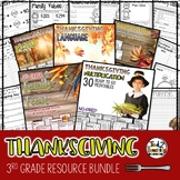 Thanksgiving Activities Bundle 3rd Grade Writing Math Language and More