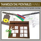 Thanksgiving Worksheets for Math and Literacy BUNDLE