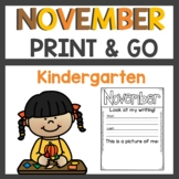 November Print and Go Activities