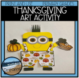 Thanksgiving Print and Make Art Activity for Primary Grades