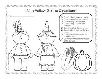Thanksgiving Print-n-Go Speech and Language Packet