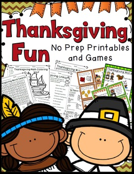 2nd Grade Thanksgiving Activities