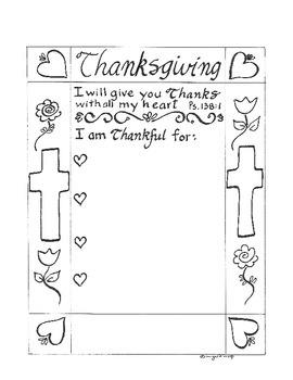 Thanksgiving Printable - Bible verse Psalm 138  - I am Tha