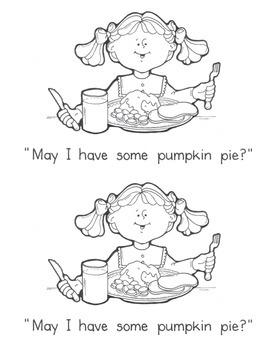 photo relating to Thanksgiving Printable Book known as Thanksgiving Printable Guide - Emergent Reader - Pumpkin Pie