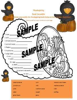 Thanksgiving Printable: Feast Scramble