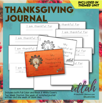 Thanksgiving Printable Journal