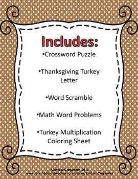 Thanksgiving Printable Pack