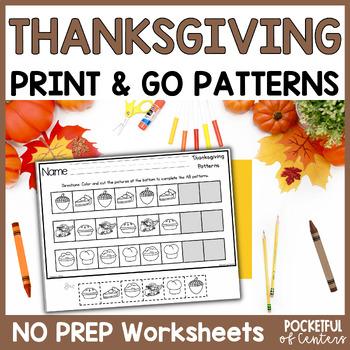 Thanksgiving Pattern Printables