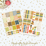 Thanksgiving Printable Planner Stickers Mini Kit