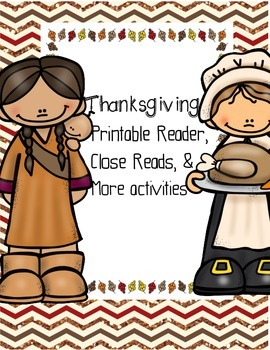 Thanksgiving Printable Reader and Close Reads
