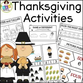 Thanksgiving Activities ● No Prep ● Roll & Color ● Clip Ca