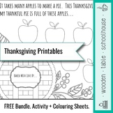 Thanksgiving Printables - Free Colouring Sheets + Activities