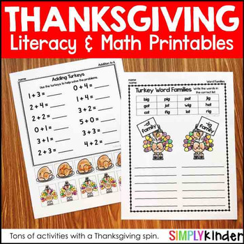 Kindergarten Thanksgiving Activities