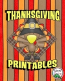 Thanksgiving Printables Pack by Eclectic Elementary