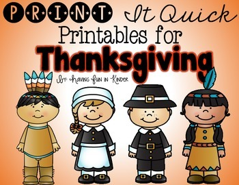 Thanksgiving Printables - {Literacy and Math}