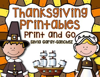 Thanksgiving Printables: Print and Go