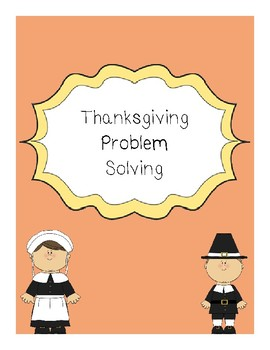 Fourth Grade Thanksgiving Problem Solving