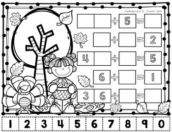 Thanksgiving Math Problem Solving Activities - Tricky Tiles