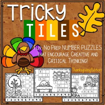 Thanksgiving Problem Solving Activities - Tricky Tiles