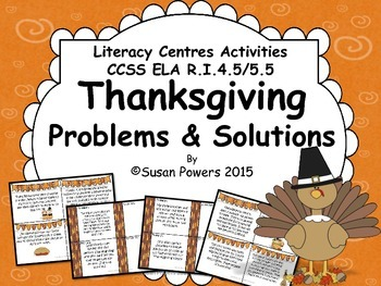Thanksgiving Problem and Solution Literacy CenterActivities