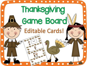 Thanksgiving Board Game {Editable!}