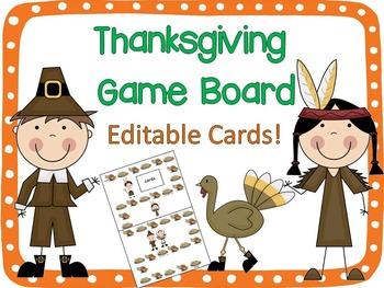 Thanksgiving Board Game {Editable!}