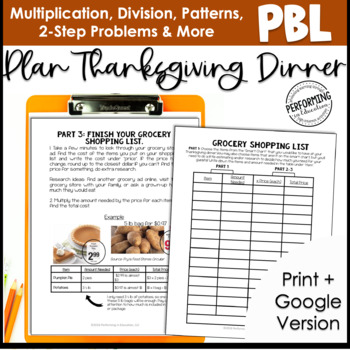 Thanksgiving Project Based Learning for 3rd Grade