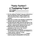 Thanksgiving Project Family Feathers Guide and Rubric