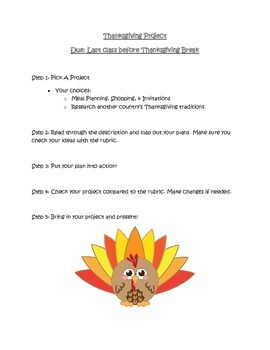 Thanksgiving Project for High Achievers