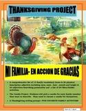 Thanksgiving Project in Spanish- Mi Familia-Dia de Accion de Gracias