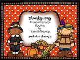 Thanksgiving Pronoun Concept Books for Speech Therapy