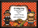 Thanksgiving Pronoun Concept Books for Speech Therapy