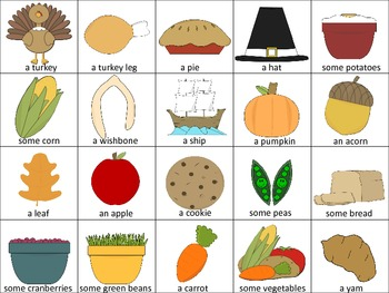 Thanksgiving Pronoun Practice