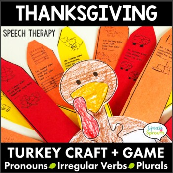 Thanksgiving Pronouns, Plurals and Verbs: Game and Craftiv