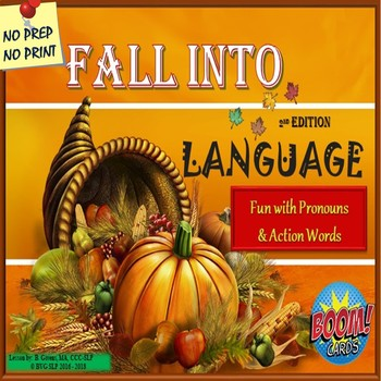 Thanksgiving Pronouns and Verbs Language Unit 2nd Edition - Teletherapy