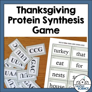 Thanksgiving DNA, RNA, & Protein Synthesis Game/Activities
