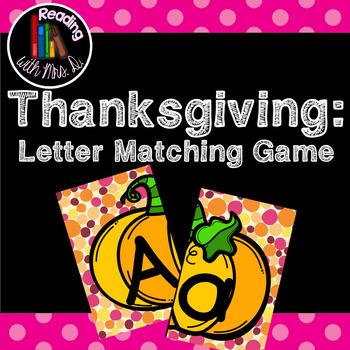 Thanksgiving Pumpkin Letter Match Cards