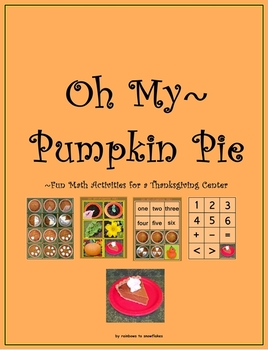 Thanksgiving & Pumpkin Pie Math Printables