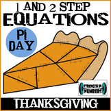 Thanksgiving Pumpkin Pie Puzzle 1 and 2 Step Equations