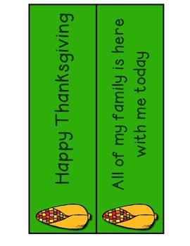 Thanksgiving Punctuation Activity